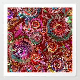 Floral abstract 54 Art Print