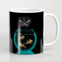 Black Cat Goldfish Coffee Mug