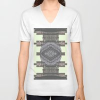 navajo V-neck T-shirts featuring Architecture navajo by Moriarty