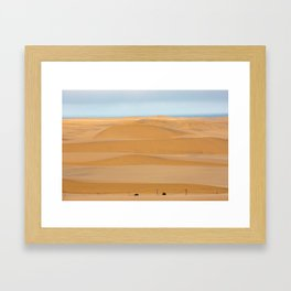Sand dunes line the coast in Namibia Framed Art Print