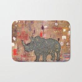 majestic series: rhino's are tough enough Bath Mat