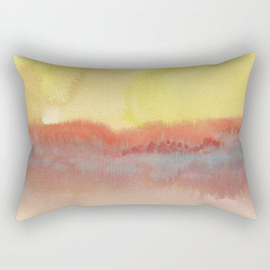 Watercolor abstract landscape 01 Rectangular Pillow