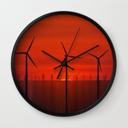 Wind Farms (Digital Art) Wall Clock