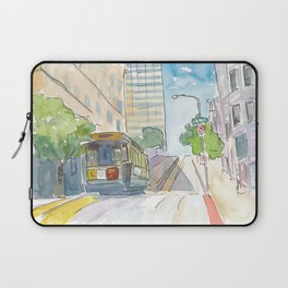 San Francisco Cable Car View Laptop Sleeve