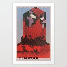 Geometric Deadpool Art Print