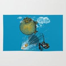 pufferfish baloon Rug