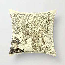 Map of Asia (1787) Throw Pillow