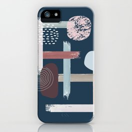The Abstract Blue iPhone Case