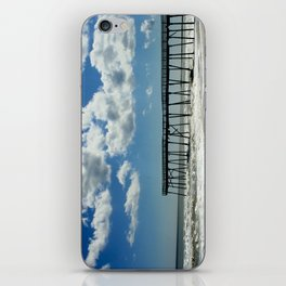 Silhouetted pier iPhone Skin
