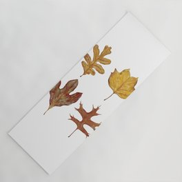 Fall Leaves Painting Yoga Mat