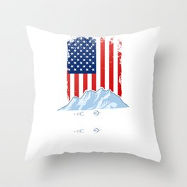 Skiing Skier Winter Sports Throw Pillow