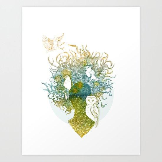 Spring birds Art Print
