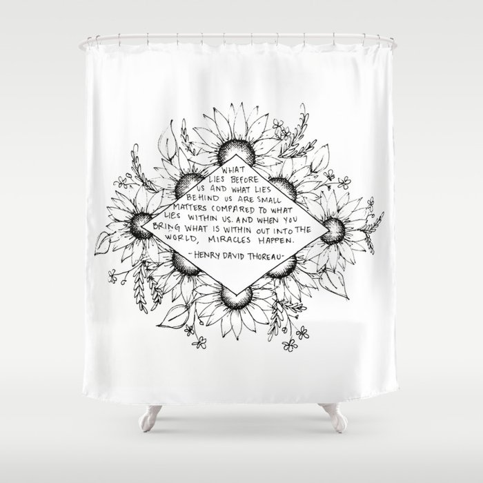 Thoreau Sunflower Shower Curtain