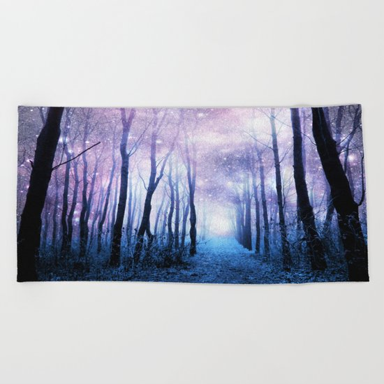 Fantasy Forest Path Beach Towel
