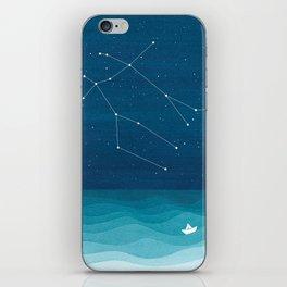 Gemini zodiac constellation iPhone Skin