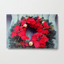 Christmas Wreath Metal Print