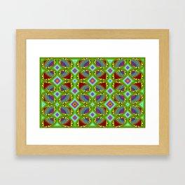 Patterned-beans-pattern 1 Framed Art Print