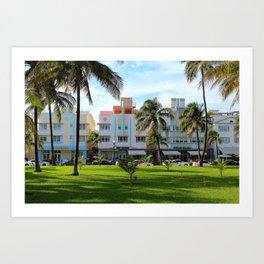 Retro Miami Art Print