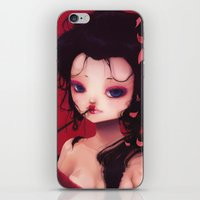geisha iPhone & iPod Skins featuring Geisha by Ludovic Jacqz