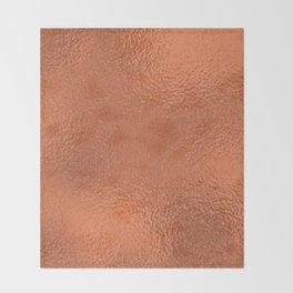 Simply Metallic in Deep Copper Throw Blanket