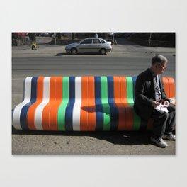 Man on Bench Canvas Print