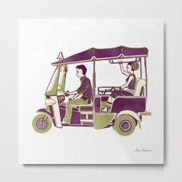 People of Thailand - Tuk Tuk Metal Print