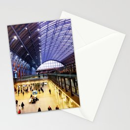 St Pancras International Train Station, London, UK Stationery Cards