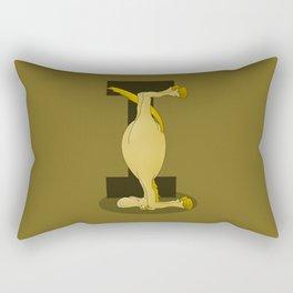 Pony Monogram Letter I Rectangular Pillow