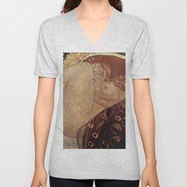 Danae  - Gustav Klimt Unisex V-Neck