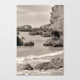 Rocky Shore Line Canvas Print