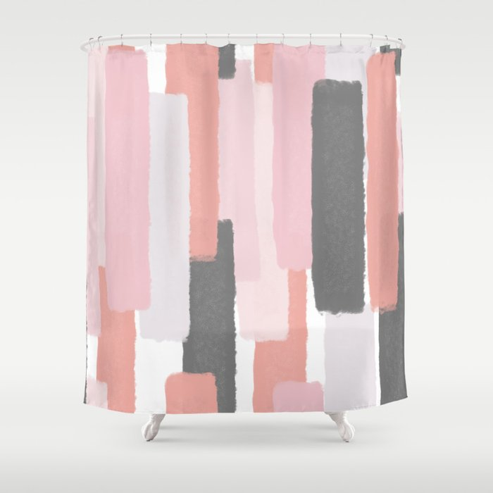 Rising Society6 Abstractart Shower Curtain