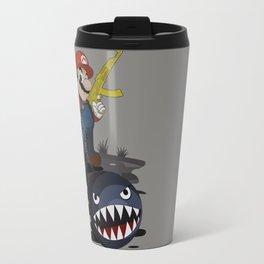 badass mario Travel Mug