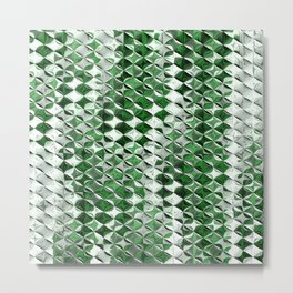 Green and white effect Metal Print