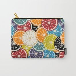 Lemon slice colored pattern Carry-All Pouch