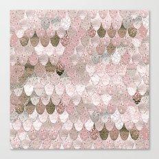 SUMMER MERMAID NUDE ROSEGOLD by Monika Strigel Canvas Print