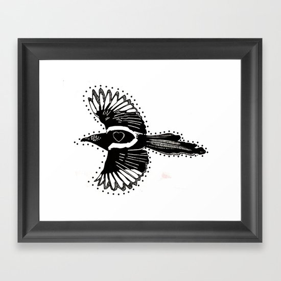 MAGPIE Framed Art Print