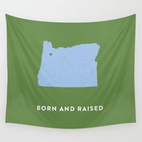 oregon Wall Tapestries featuring Oregon by Hunter Ellenbarger