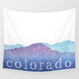 Colorado Mountain Ranges_Pikes Peak + Continental Divide Wall Tapestry