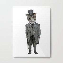 Mr.cat Metal Print
