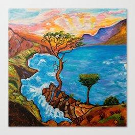 Sunset at Torrey Pines Canvas Print
