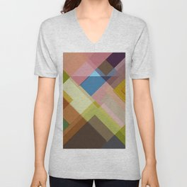 Abstract Composition 634 Unisex V-Neck