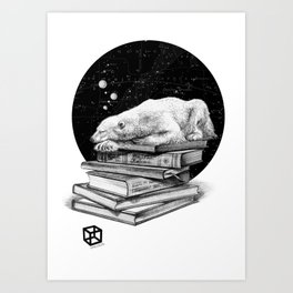 Cosmic Polar bear Art Print