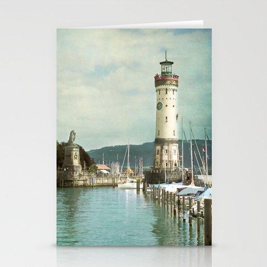 LINDAU LIGHTHOUSE - LAKE OF CONSTANCE Stationery Cards