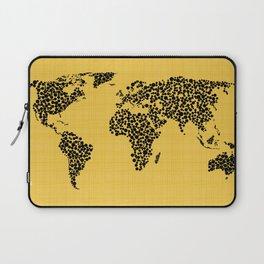 Yellow world map Laptop Sleeve