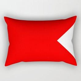 Bravo Flag Rectangular Pillow