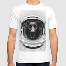 Pluto Astro Dog Mens Fitted Tee White MEDIUM