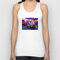 china Tank Tops featuring China Doll by Danielle Tanimura