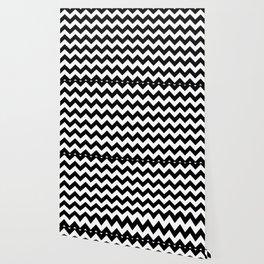 Chevron (Black/White) Wallpaper