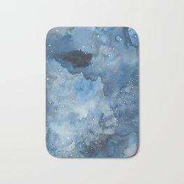 Night Tide Watercolor Bath Mat