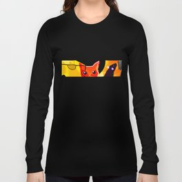 CAT AND MICE OVER A CHEESE Long Sleeve T-shirt